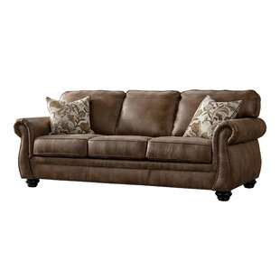 Sandbach Acanva Contemporary Leathaire Standard Sofa by Darby Home Co