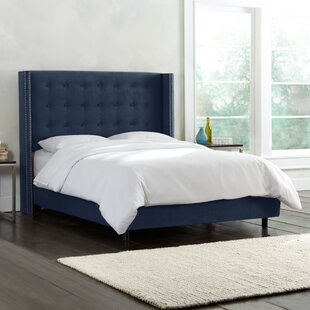 Bittinger Nail Button Tufted Wingback Upholstered Panel Bed