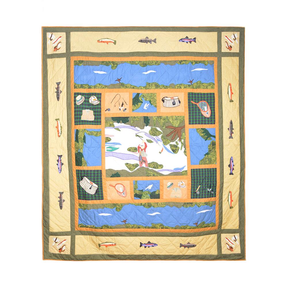 Patch Magic Fly Fishing Quilt & Reviews | Wayfair : fishing quilt - Adamdwight.com