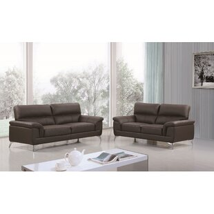Coupon Eldred Leather 2 Piece Living Room Set by Wade Logan Reviews (2019) & Buyer's Guide