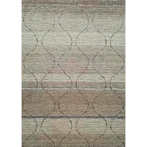 Hand-Tufted Beige Area Rug