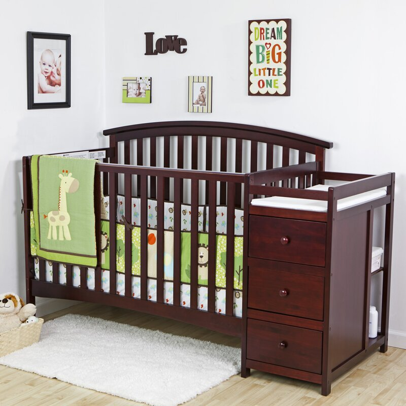 default_name - Dream On Me Niko 4-in-1 Convertible Crib And Changer Combo