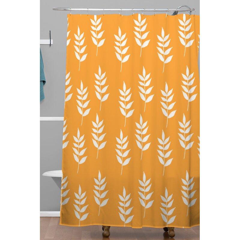 Mini Leaf Shower Curtain