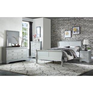 Charmant Dove Sleigh Configurable Bedroom Set