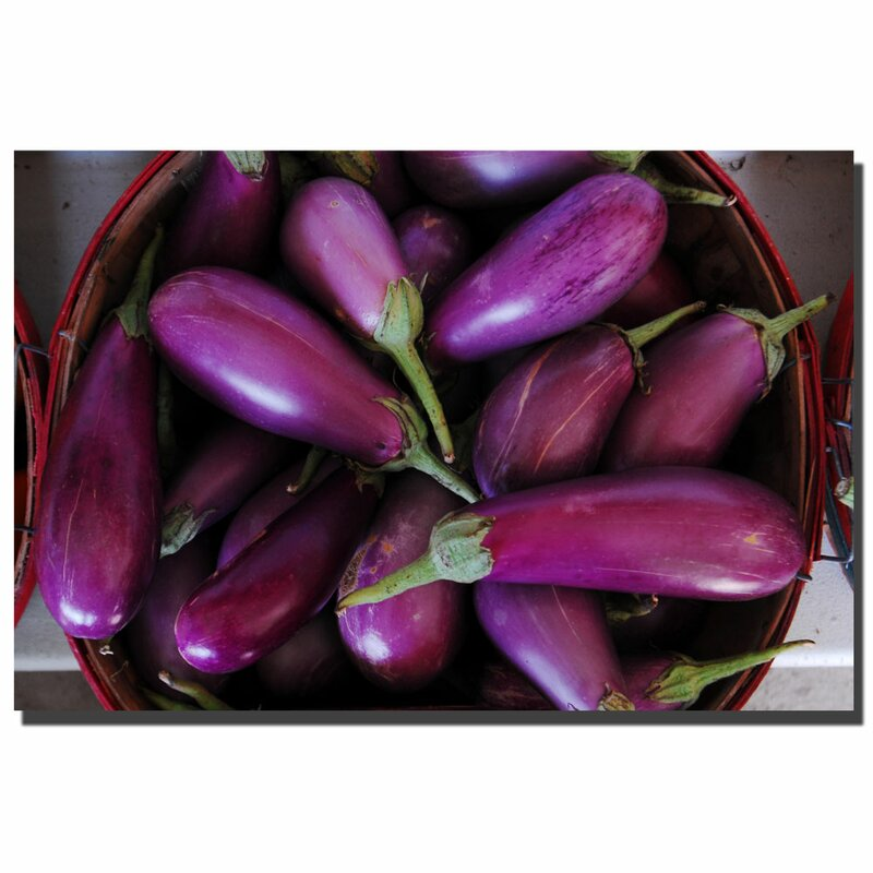 """Eggplants"" by Kurt Shaffer Photographic Print on Wrapped Canvas"