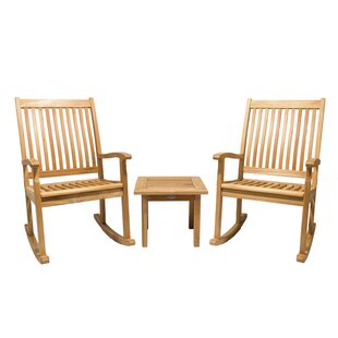 Lauritzen 3 Piece Teak Sunbrella Seating Group