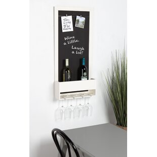 Mccaulley Wood Chalkboard 3 Bottle Wall Mounted Wine Rack by Gracie Oaks