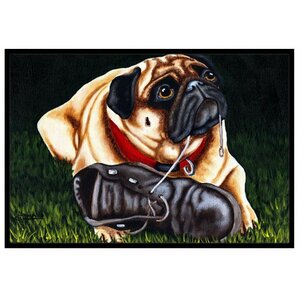 Cluster Buster the Pug Doormat