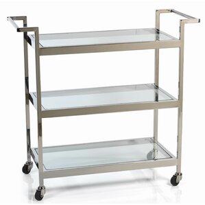 Benziger Long Serving Bar Cart by Everly Quinn