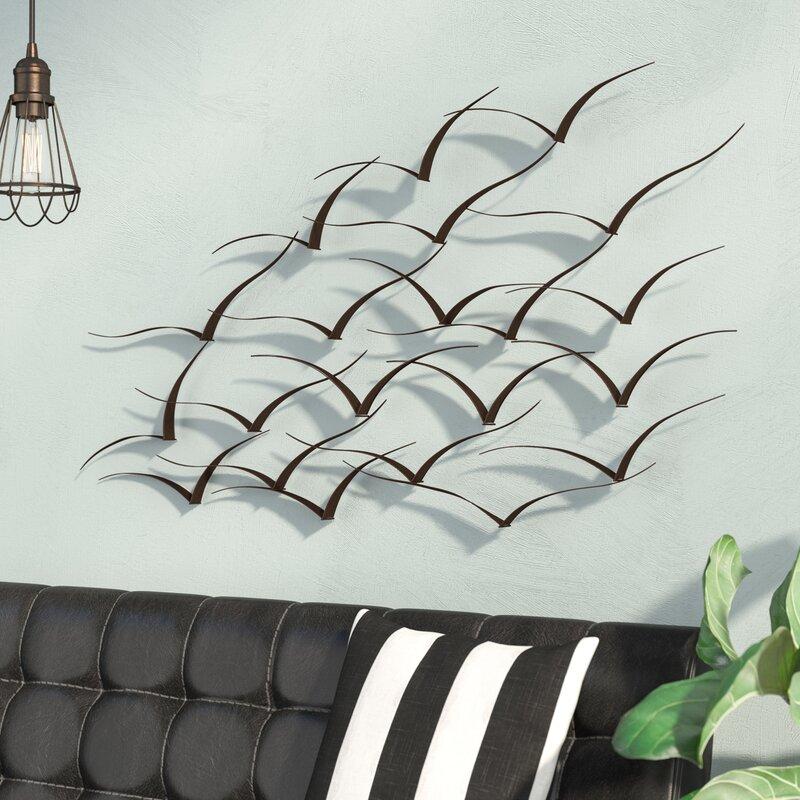 Trent Austin Design Handcrafted Flock Of Birds Metal Art