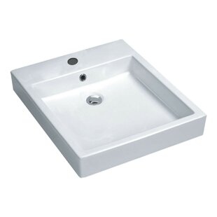 ANZZI Deux Series Vitreous China Rectangular Vessel Bathroom Sink with Overflow