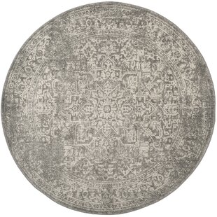 Chaudiere Silver/Ivory Area Rug by Lark Manor