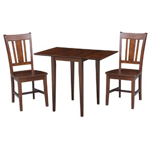 Banes 3 Piece Solid Wood Dining Set Red Barrel Studio