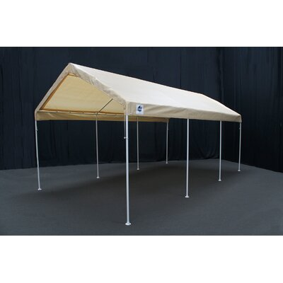 Hercules 11 Ft. W x 20 Ft. D Steel Party Tent King Canopy Color: Tan