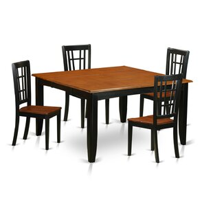 Pilning Contemporary 5 Piece Wood Dining Set
