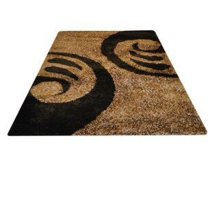 Kathleen Hand-Tufted Brown/Black Area Rug By World Menagerie