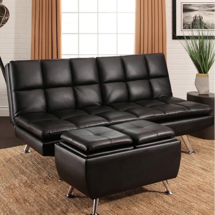 Rolston Bonded Leather 2 Piece Convertible Sofa Set