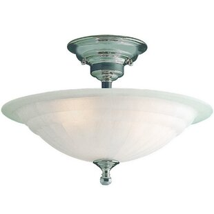 Bainsbury Semi Flush Mount by Alcott Hill