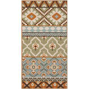 Cronan Orange/Green Indoor/Outdoor Area Rug