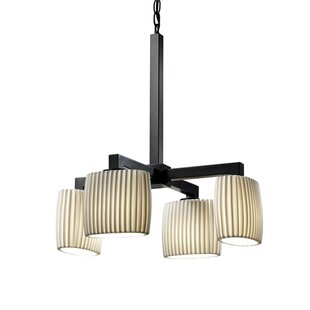 Devaughn 4-Light Shaded Chandelier by Darby Home Co