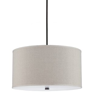 Langley Street Jon 4-Light Burnt Sienna Drum Pendant