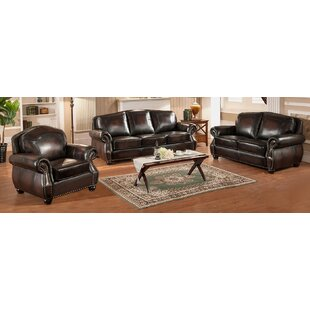 Fleur De Lis Living Janay 3 Piece Leather..