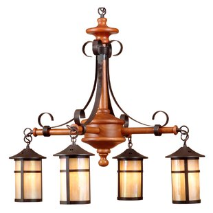 Rogan Round 4-Light Shaded Chandelier by Millwood Pines