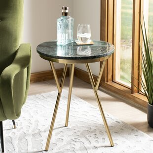 Creek Round Marble End Table by Mercer41