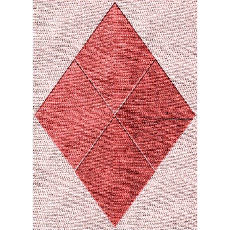 East Urban Home Milano Geometric Wool Red Area Rug Wayfair