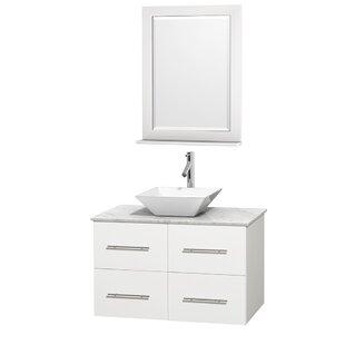 Centra 36 Single White Bathroom Vanity Set with Mirror