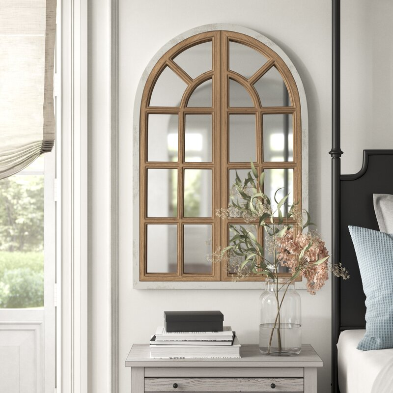 Gabrielle Farmhouse Arch Distressed Wall Mirror