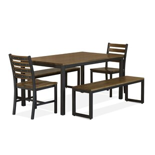 Loft 5 Piece Solid Wood Dining Set Elan Furniture