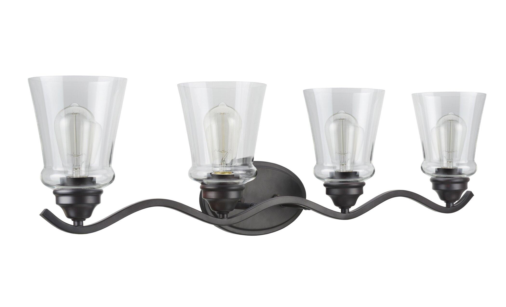Gracie Oaks Linquist Transitional Metal 4 Light Vanity Light Wayfair