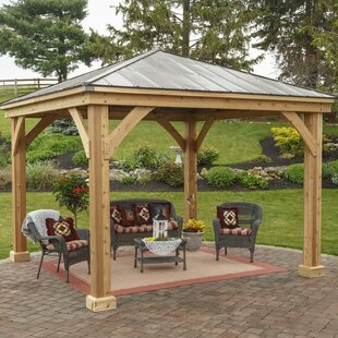 YardCraft 12 Ft. W x 12 Ft. D Solid Wood Patio Gazebo