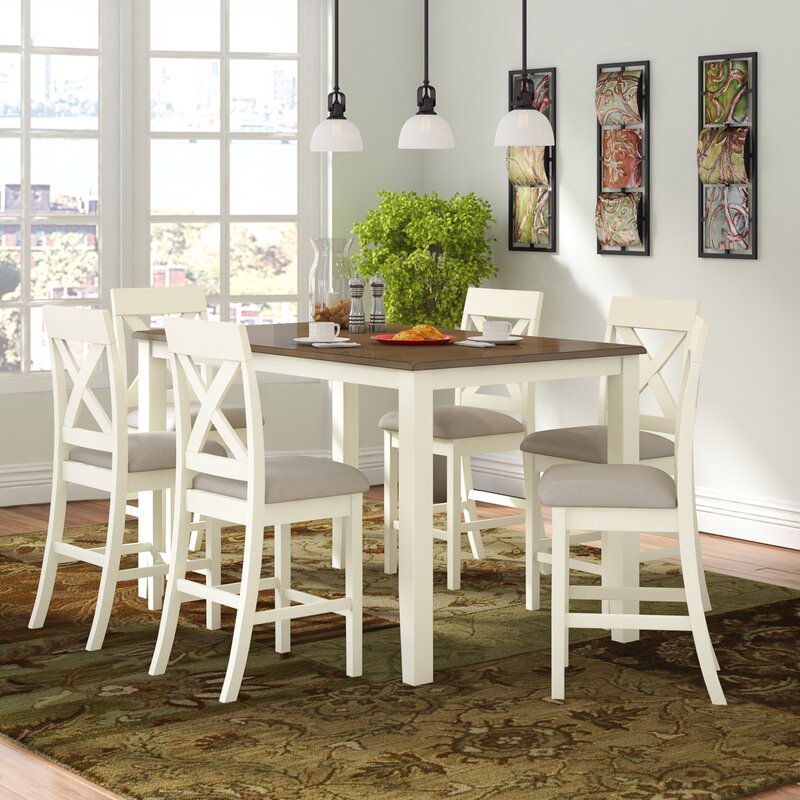 Nadine 7 - Piece Counter Height Dining Set