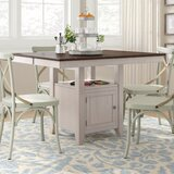 Adalgar Counter Height Butterfly Leaf Solid Wood Dining Table by August Grove®