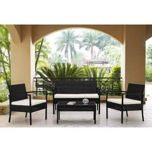 Ebern Designs Adella 4 Piece Sofa Set with Cushions