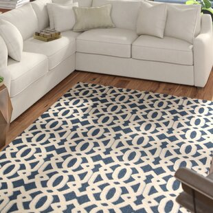 Reviews Derose Navy/White Area Rug By Ebern Designs