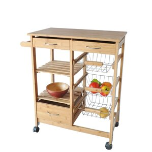 Jeanne Kitchen Cart by Andover Mills Top Reviews