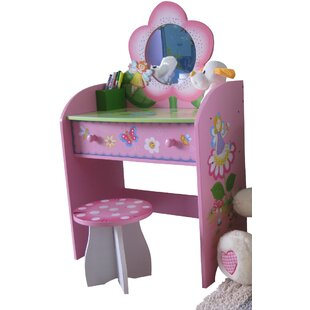 Cheap Price Ginsburg Dressing Table Set With Mirror