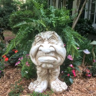 Muggly The Face Grumpy Statue Planter by HomeStyles
