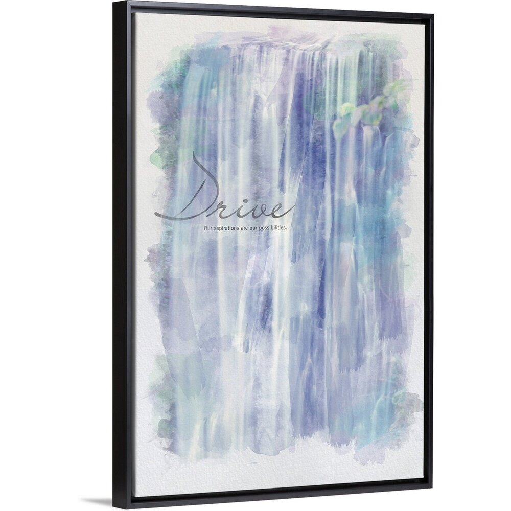 Winston Porter Watercolor Inspirational Poster Our Aspirations Are Our Possibilities Textual Art Print On Canvas Wayfair