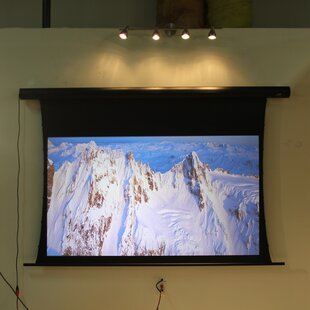 Saker White 150 Electric Projection Screen by Elite Screens