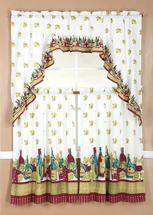 Wine Curtains For Kitchen | Wayfair