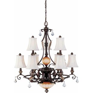 Volume Lighting Andalusia 9-Light Shaded Chandelier