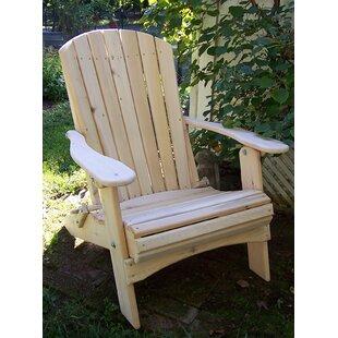 Nyla Solid Wood Folding Adirondack Chair By Highland Dunes
