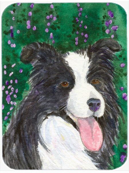 East Urban Home Border Collie Rectangle Tempered Glass Cutting Board Wayfair