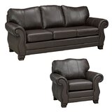 Jettie Leather 2 Piece Living Room Set by Fleur De Lis Living