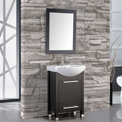 Orren Ellis Prall Single Sink Bathroom Vanity Set With Mirror - Bathroom vanities delray beach fl
