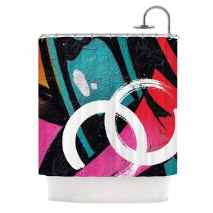 'Channel Zero' Illustration Shower Curtain by East Urban Home